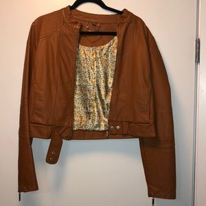 Tan Leather Jacket !!